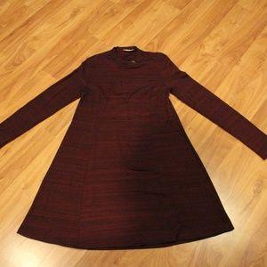 Dark Red Flare Dress
